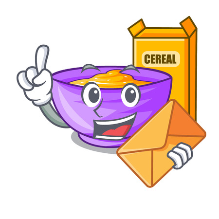 With envelope cereal box in the character fridge