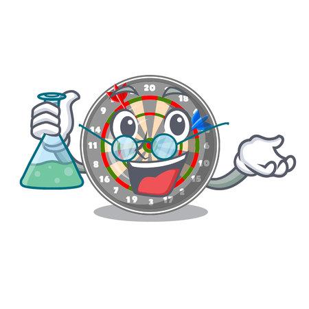 Professor dartboard in the shape of mascot vetor illustration