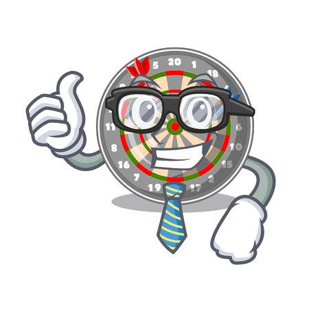 Businessman dartboard in the shape of mascot vetor illustration Ilustração