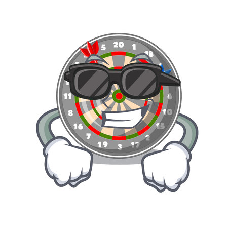 Super cool dartboard in the shape of mascot vetor illustration Stock Illustratie