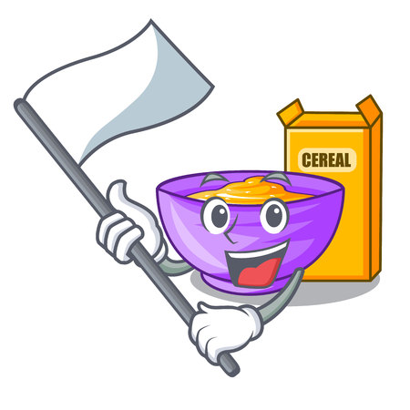 With flag cereal box isolated with the cartoons vector illustration Imagens - 124797105