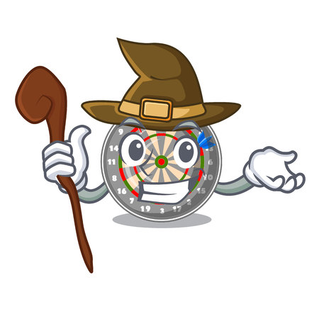 Witch dartcoard isolated with in the character vector illustration
