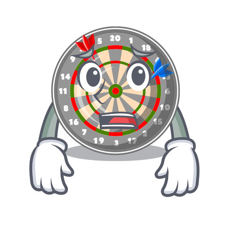Afraid dartcoard isolated with in the character vector illustration