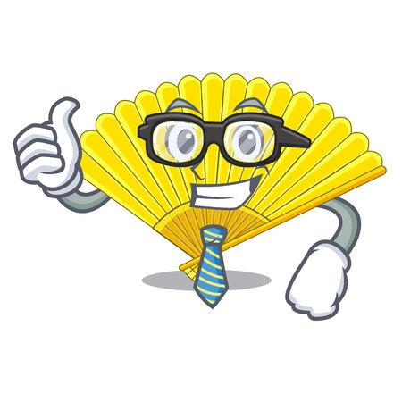 Businessman souvenir folding fan in character shape vector illustration Foto de archivo - 124748263