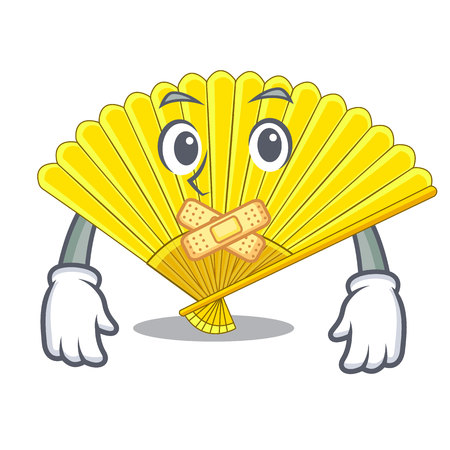 Silent folding fan isolated with the cartoon vector illustration Vettoriali