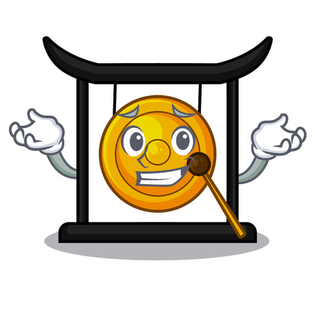 Grinning golden gong in the cartoon room vector illustration 向量圖像