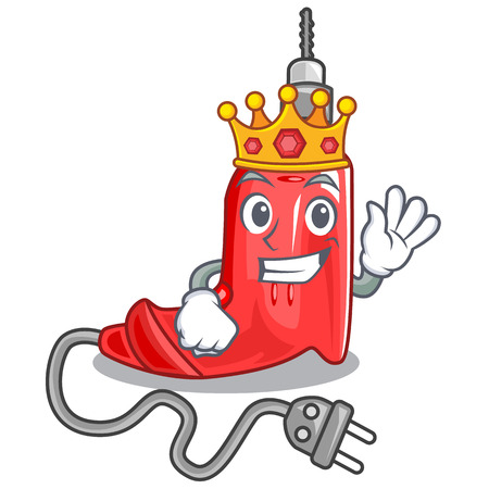 King electric drill in the cartoon box Illustration