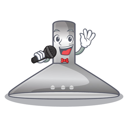 Singing kitchen hood isolated with the cartoon vector illustration
