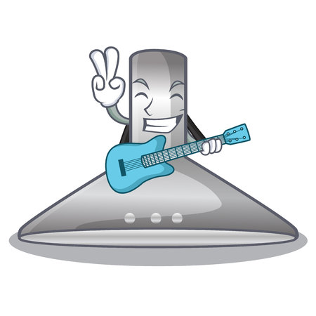 With guitar kitchen hood isolated with the cartoon vector illustration Ilustracje wektorowe