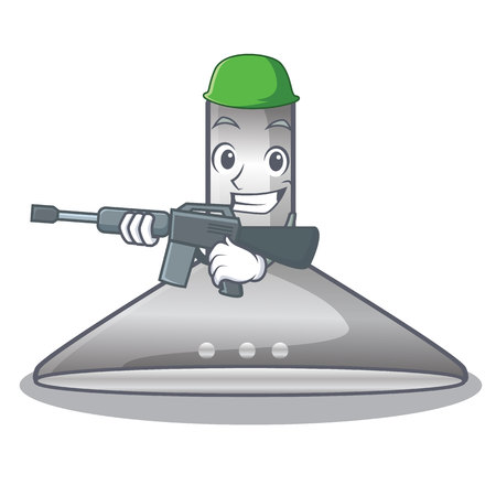 Army kitchen hood the character kitchen room vector illustration
