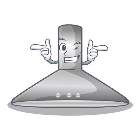 Wink kichen hood in the mascot shape vector illustration