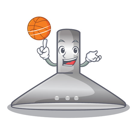 With basketball kitchen hood the character kitchen room vector illustration Illustration