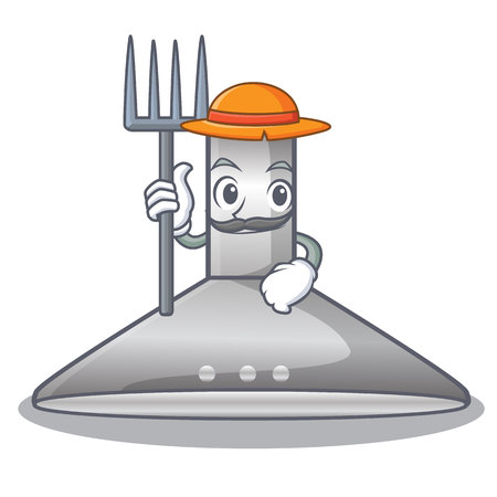 Farmer kitchen hood the character kitchen room vector illustration Illustration