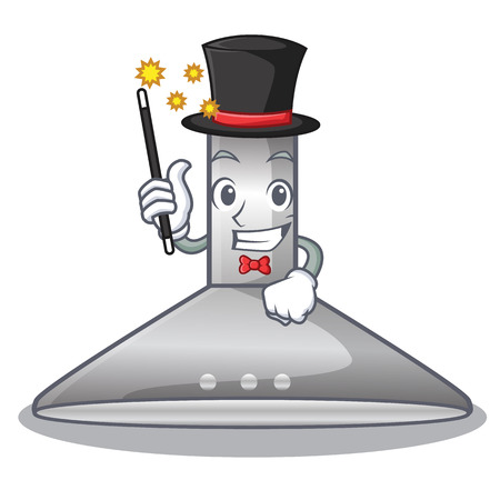 Magician kitchen hood cartoon the for cooking vector illustration Çizim