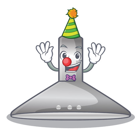 Clown kitchen hood cartoon the for cooking vector illustration