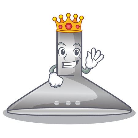 King kitchen hood cartoon the for cooking vector illustration