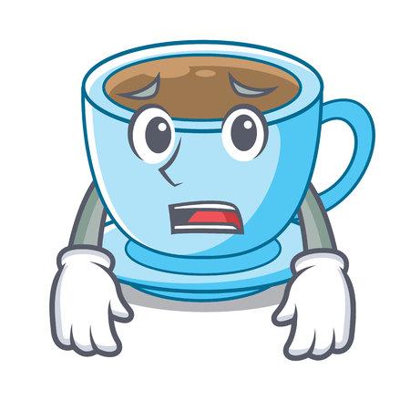 Afraid milk tea in character the shape vector illustration Ilustração