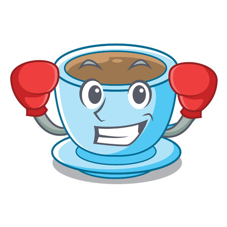 Boxing cup of delicious cartoon milk tea vector