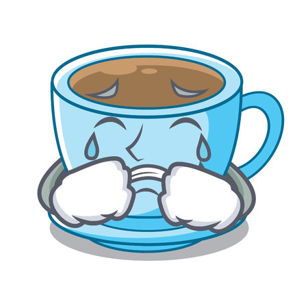 Crying milk tea in character the shape vector illustration