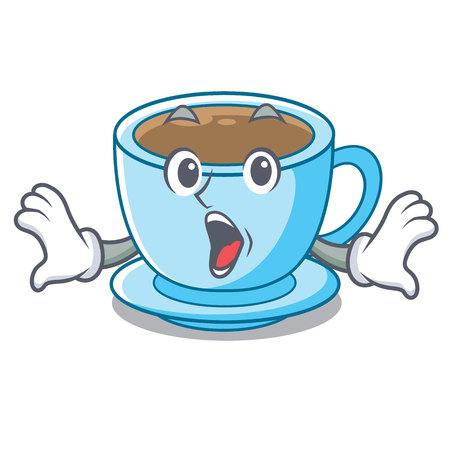 Surprised milk tea in character the shape vector illustration Ilustrace