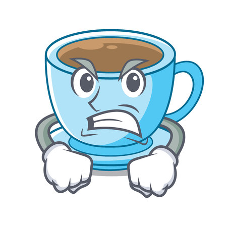Angry milk tea in character the shape vector illustration Ilustrace