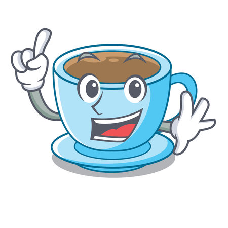 Finger milk tea isolated with the mascot vector illustration