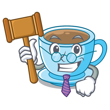 Judge milk tea isolated with the mascot vector illustration