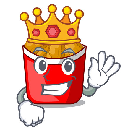 King chicken nuggets in a mascot bowl vector illustration