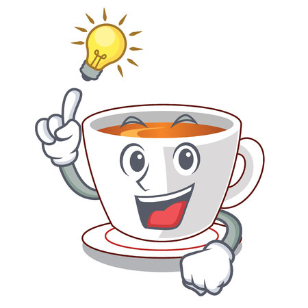 Have an idea mint tea in a cartoon cup vector illustration
