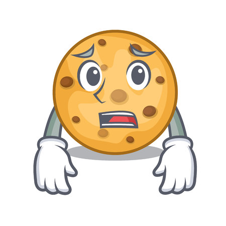 Afraid oat cookies in a cartoon jar vector illustration Banco de Imagens - 124708937
