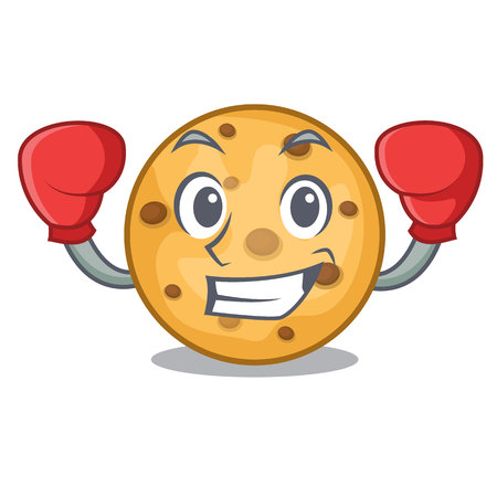 Boxing oat cookies above wooden character boards Иллюстрация