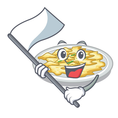 With flag scrambled egg isolated with in cartoon vector illustration Imagens - 124709072