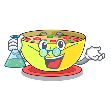 Professor corn chowder isolated with the character vector illustration