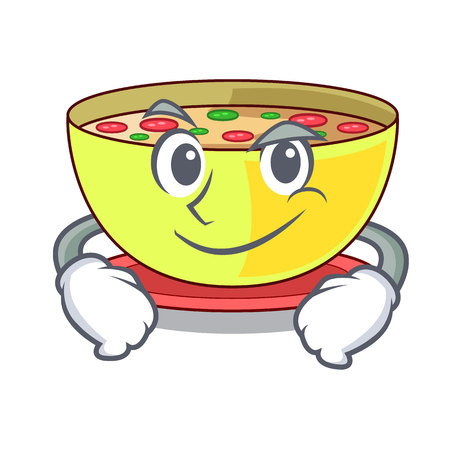 Smirking corn chowder isolated with the character vector illustration Векторная Иллюстрация