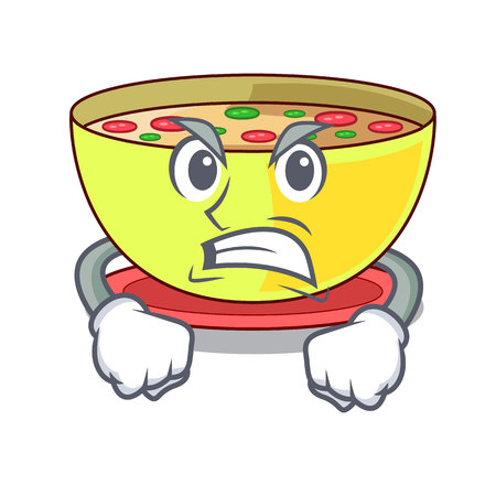 Angry corn chowder in the mascot shape vector illustration