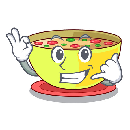 Call me corn chowder in a cartoon plate vector illustration Ilustração