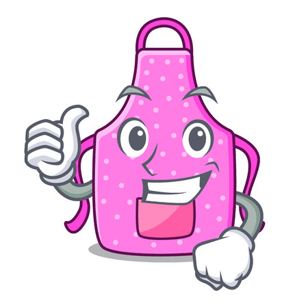 Thumbs up kitchen apron in the mascot room vector illustration Illustration