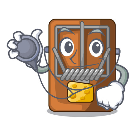 Doctor mousetrap in the a character shape vector illustration