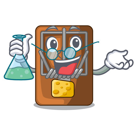 Professor mousetrap in the shape mascot wood vector illustration