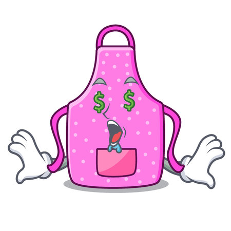 Money eye kitchen apron placed above cartoon table vector illustration Foto de archivo - 124651550
