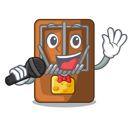 Singing mousetrap isolated with in the cartoon vector illustration