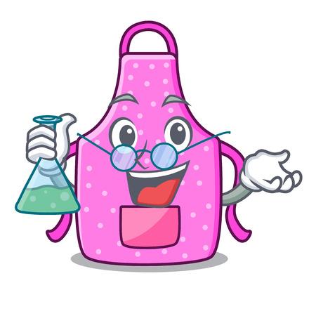 Professor kitchen apron in the mascot room vector illustration