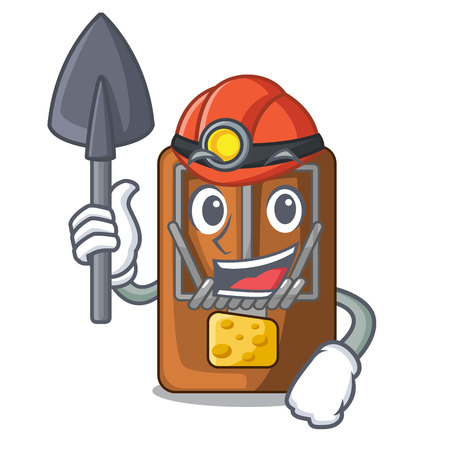 Miner mousetrap isolated with in the cartoon vector illustration Vector Illustration