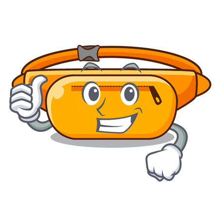 Thumbs up waist bag in the shape mascot vector illustration