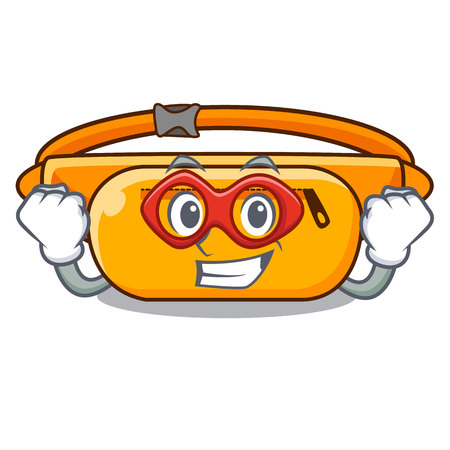 Super hero waist bag in the shape mascot