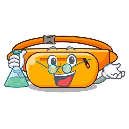 Professor waist bag in the shape mascot vector illustration