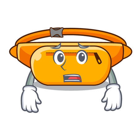 Afraid waist bag the shape funny characters vector illustration
