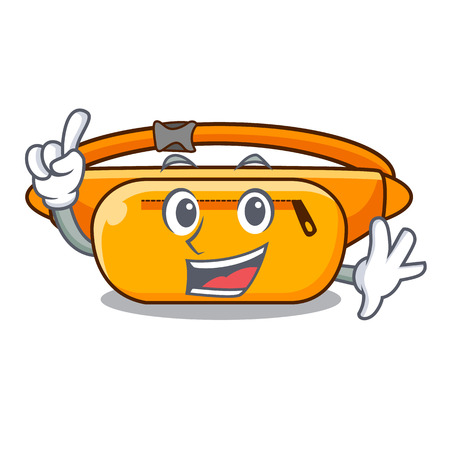 Finger waist bag isolated in the cartoon vector illustration