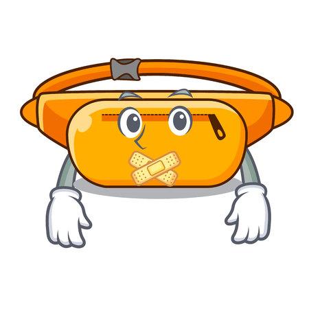 Silent waist bag isolated in the cartoon