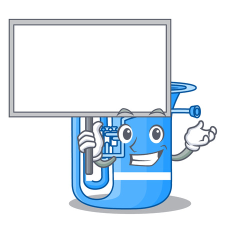 Bring board tuba in the mascot music room vector illustration Vektoros illusztráció